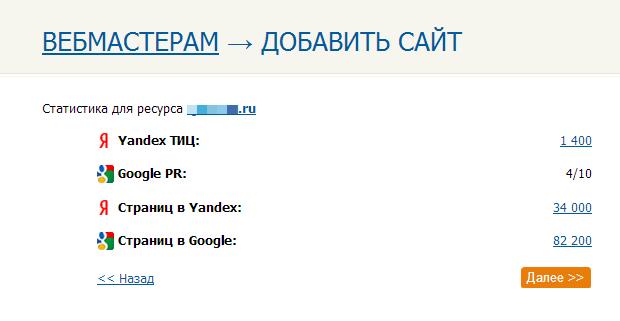 Статистика сайта